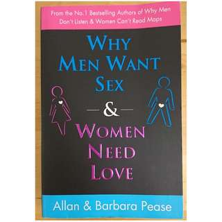 Why Men want Sex and Women Need Love by Allan & Barbara Pease