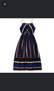 Dress garis/dress salur/longdress