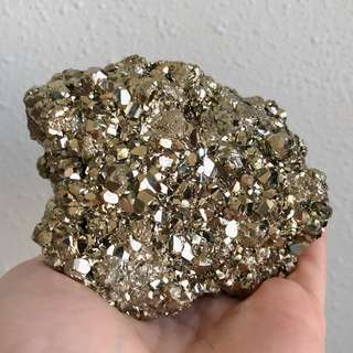 Golden Iron Pyrite Large Cluster #C