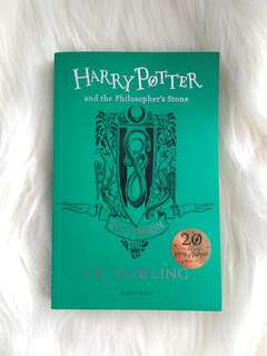Harry Potter and the Philosopher's Stone Special Edition 20th Anniversary Slytherin Cover by J.K Rowling