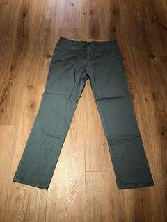 🚚 Gap 休閒長褲 淺墨綠色
