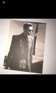 Big Bang Top alive 小卡  / postcard