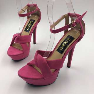 TAVISH PINK HEELS (5 inches)