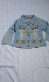 Jaket jeans bule biru muda