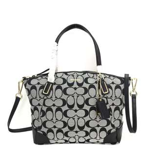 Authentic COACH Madison Kelsey Medium in Signature - Grey Black