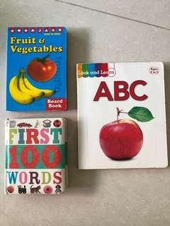Board Books - ABC / Fruit & Vegetables / First 100 words.