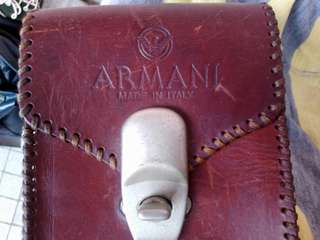ARMANI learher bag(Italy made)