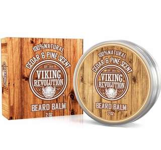[IN-STOCK] Best Deal Beard Balm Cedar & Pine Scent w/Argan & Jojoba Oils - Styles, Strengthens & Softens Beards & Mustaches - Leave in Conditioner Wax for Men by Viking Revolution