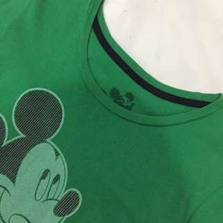 Authentic Disney Mickey Mouse Slim Cutting Cotton Top
