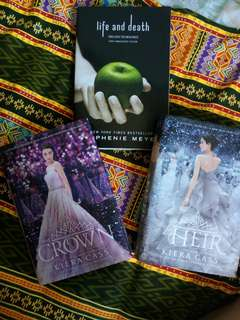 The Heir and The crown By Harper Teen and Life and Death by Stephanie Meyer