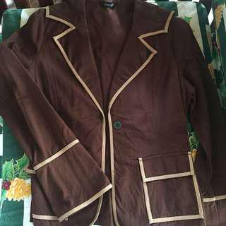 101 NEW YORK Brown Blazer with Sailor Detail