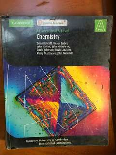 AS A Level Chemistry Cambridge Brian Ratcliff, Helen Eccles, John Raffan,....
