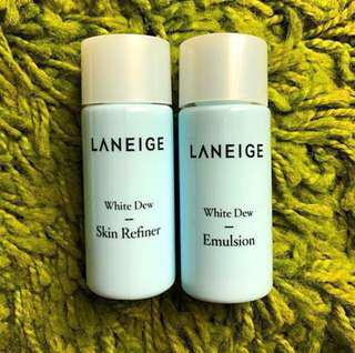 Laneige White Dew Toner + Emulsion