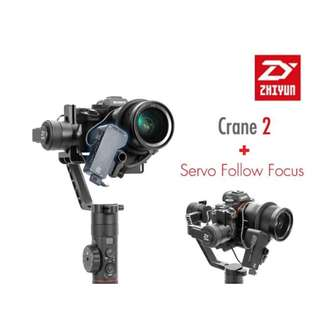 🛒Zhiyun Crane 2 Gimbal Stabilizer + Servo Follow Focus Combo Set
