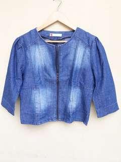 Jacket denim jeans merk SOLEMIO