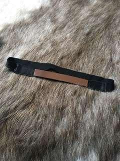 Rose gold bar belt