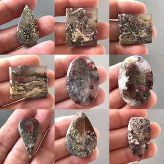 Beautiful Moss Agate Stone Cabochon