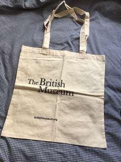 全新British museum tote bag muji