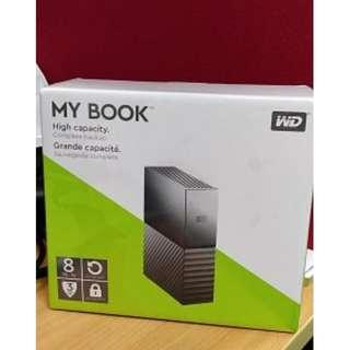 全新 未開封 WD Mybook 8TB USB 3.0 External Harddisk