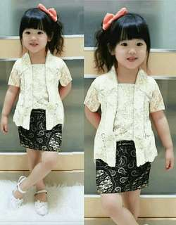 Baju set anak perempuan usia 2-3 th