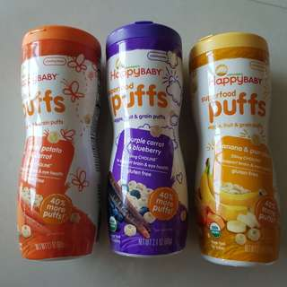 ❤Ready Stock❤ Happy Baby Organic Superfood Puffs 60g