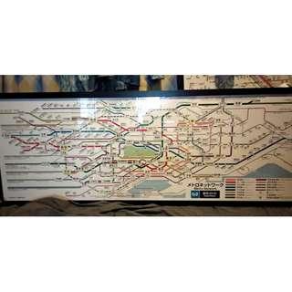【東京Metro】  車內橫向路線圖 都心全線