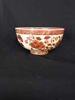Ming dynasty Copper red glazed bowl 19.5cm diameterx 10cm H. 明到代釉里红大碗。特价