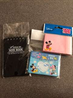 Handy Note Book n Short Note Pad ( Mickey Mouse)