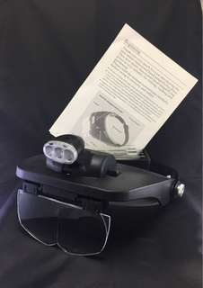 Multi functional head magnifying glass