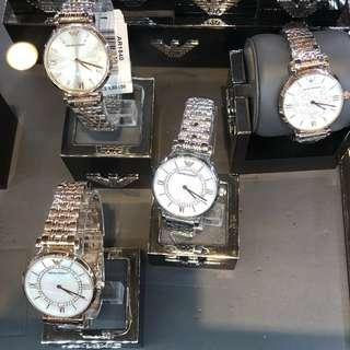 armani 錶款正價75折,訂購需時!需先入數落訂