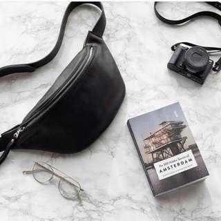H&M belt leather black