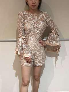 Lace Champagne playsuit