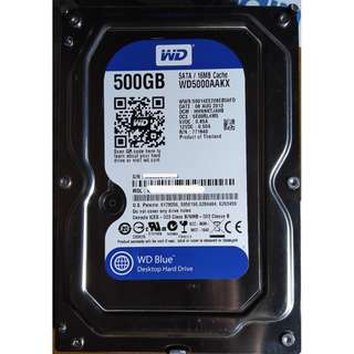 WD Blue™ WD5000AAKX 500GB SATA 600MB/s Desktop Hard Drives 100% Work, no bad sector