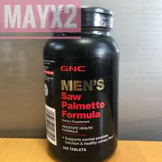 💥維護前列健康💥 GNC男士鋸櫚配方 (240粒/4個月量) GNC Men's Saw Palmetto Formula