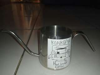 Alumunium gooseneck kettle 200 ml (no tutup)