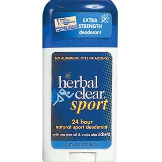 Herbal Clear Sport 24 Hour Natural Sport Deodorant with Tea Tree Oil and Swiss Alps Lichen, 1.8 Ounce