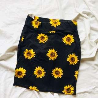 Bodycon Floral Skirt