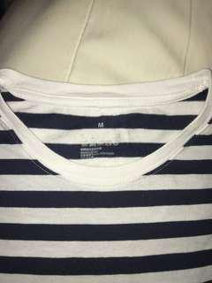 Black Muji striped shirt