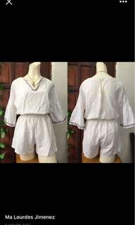 White classy rompers