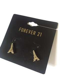 FOREVER 21 / F21 Eiffel tower stud earrings