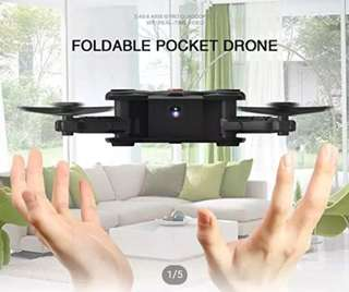 6🔥💥Last set💥Eachine E55; Mini WiFi FPV Foldable Pocket Selfie Drone With High Hold Mode RC Quadcopter