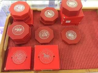 Singapore 1993 1994 1995 1997 2001 2002 Zodiac Cupronickel $10 Coin
