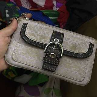 Authentic Coach Wristlet preloved