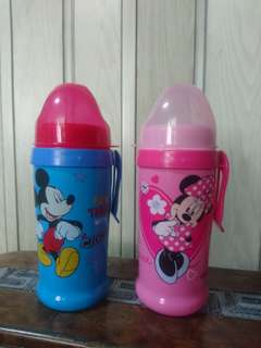 Mickey and minnie wide neck feeding bottle