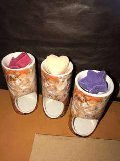 📣 🆕 陶瓷製品香薰座配香薰蠟燭和香薰蠟 (每套 $100 連盒)