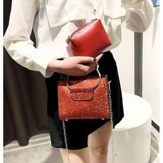 Glitter alison sling bag