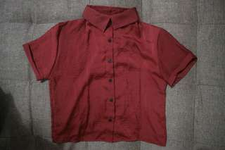 Maroon Polo Cropped Top