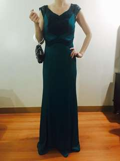 FOR RENT Turquoise Long Formal Gown