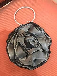 FOR RENT Fancy Silver Flower Evening Bag