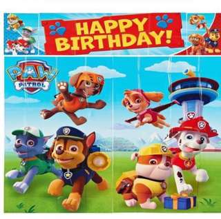 🐾 Paw Patrol party supplies - Paw Patrol scene setter / backdrop/ party deco / party banner / photo booth